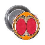 Del rosa diseño anaranjado superfly pin