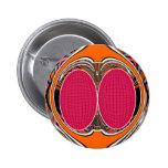 Del rosa diseño anaranjado superfly pins