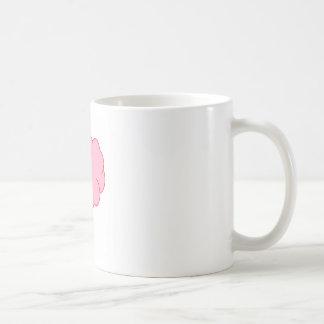Del rosa nube sí taza básica blanca