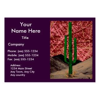 ~ del SAGUARO (adorno del cactus del desierto) Tarjetas De Visita Grandes