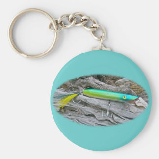 """Del """"señuelo de la pesca del agua salada dragón de llavero redondo tipo pin"""