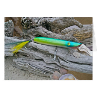 """Del """"señuelo de la pesca del agua salada dragón de tarjeta de felicitación"""