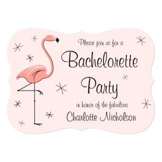 """Del """"soporte rosado fiesta de Bachelorette"""" del Invitación 5"""" X 7"""""""