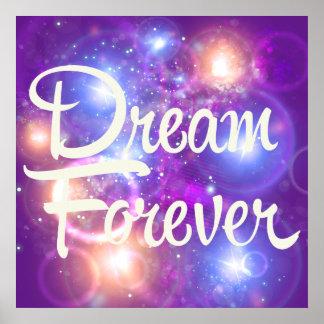 Del sueño espacio púrpura para siempre póster