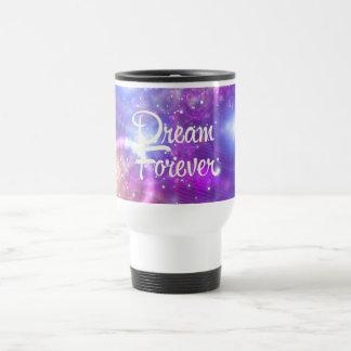 Del sueño espacio púrpura para siempre taza de café
