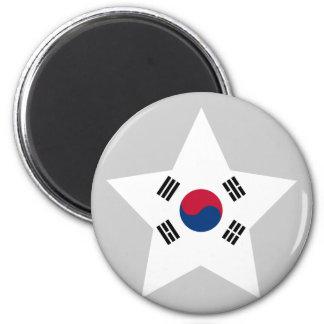 Del sur+Estrella de Corea Imanes