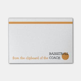 Del tablero del entrenador de béisbol post-it nota