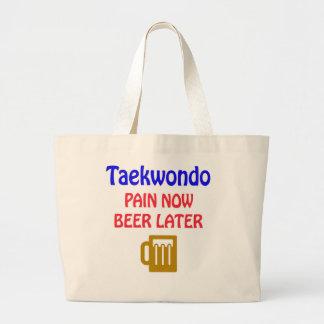 Del Taekwondo del dolor cerveza ahora más adelante Bolsa Tela Grande