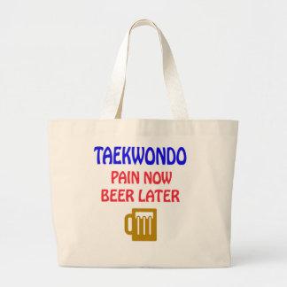 Del Taekwondo del dolor cerveza ahora más adelante Bolsas Lienzo