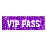 """Del """"tarjeta de visita púrpura PASO del VIP"""" del G"""