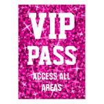 """Del """"tarjeta de visita rosada PASO del VIP"""" del Gl Tarjetas De Visita Grandes"""
