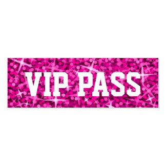 Del tarjeta de visita rosada PASO del VIP del Gl