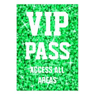"Del ""tarjeta de visita verde PASO del VIP"" del Gli Tarjetas De Visita Grandes"