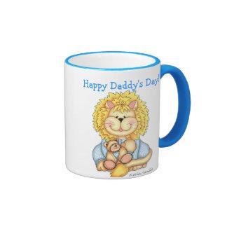 """Del """"taza personalizada día del papá feliz"""" de taza de dos colores"""