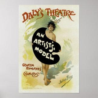 ~ del teatro del Daly el modelo de un artista Póster