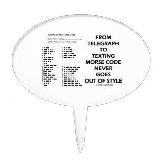Del telégrafo al código Morse de Texting nunca Decoraciones Para Tartas