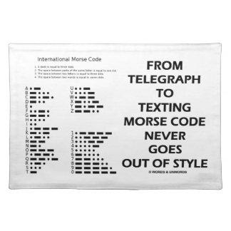 Del telégrafo al código Morse de Texting nunca Manteles