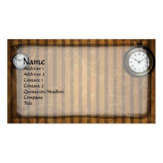 Del tiempo tarjeta de visita del gótico de Steampu