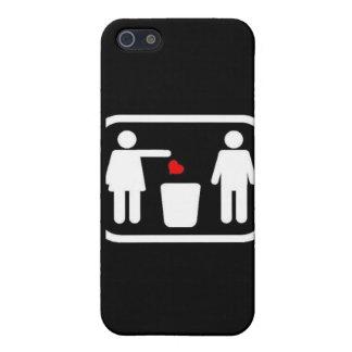 Del tiro corazón lejos iPhone 5 funda