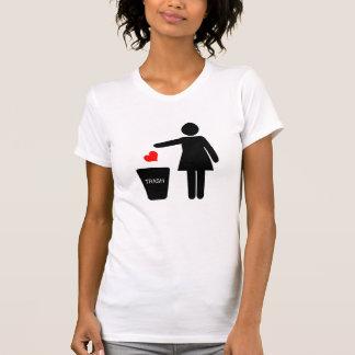 Del tiro la camiseta de las mujeres del amor lejos