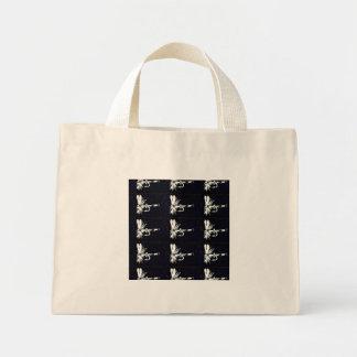 "Del ""tote minúsculo negro de la mosca seca bolsa tela pequeña"