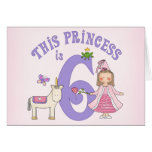 Del unicornio 6ta cumpleaños invitación de la prin tarjetas