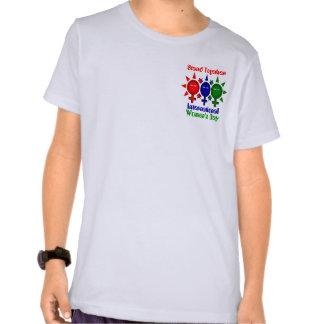 Del unir el día de las mujeres internacionales camiseta