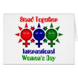 Del unir el día de las mujeres internacionales tarjetón