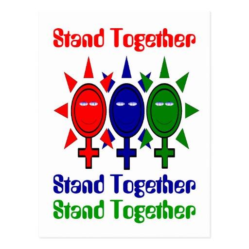 Del unir el día de las mujeres internacionales tarjetas postales