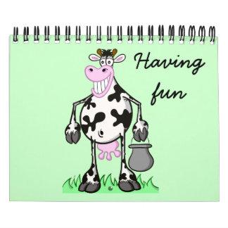 Del vaca divertida arte del dibujo animado del C