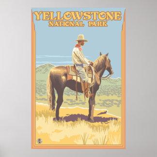 Del vaquero parque nacional de Yellowstone a cabal Póster