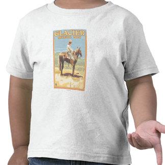 Del vaquero Parque Nacional Glacier a caballo -, Camiseta