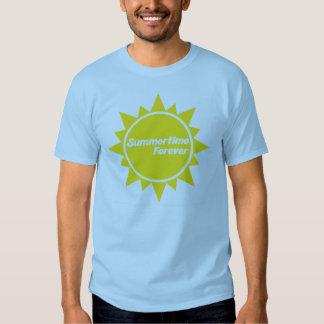 Del verano azul adulto de la camiseta para siempre camisas