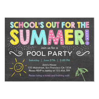 """Del verano del fiesta de la fiesta en la piscina invitación 5"""" x 7"""""""
