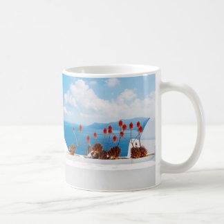 Del verano taza inspirada de la isla de Santorini
