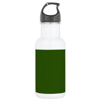 ~ del VERDE del AGUACATE (color sólido) Botella De Agua De Acero Inoxidable