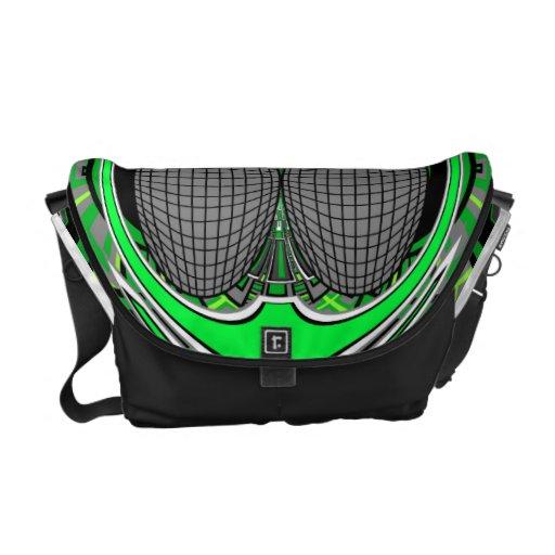 Del verde la bolsa de mensajero superfly bolsas de mensajería