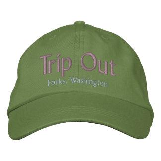 Del viaje bifurcaciones hacia fuera, gorra de gorra bordada