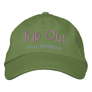 Del viaje bifurcaciones hacia fuera, gorra de gorra de béisbol bordada