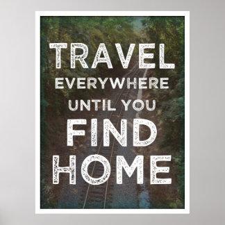 Del viaje poster por todas partes