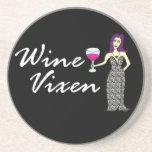 Del vino del Vixen oscuridad travieso Posavasos Personalizados
