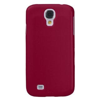 ~ del VINO (un color sólido de color rojo oscuro) Funda Para Galaxy S4