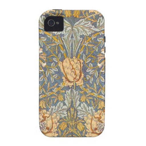 Del vintage cajas del teléfono de Raphaelite Willi iPhone 4 Fundas