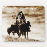 Del vintage de Cheyenne de los guerreros cojín de  Alfombrilla De Raton