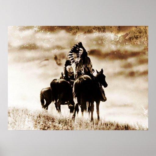 Del vintage de Cheyenne de los guerreros poster a