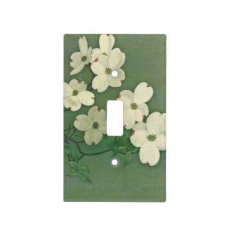 Del vintage de las flores de cerezo verde suavemen