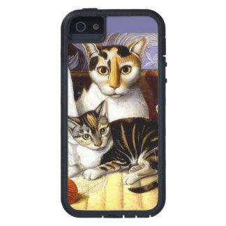 DEL VINTAGE DEL CAT DE LA IMPRESIÓN AMERICANO iPhone 5 COBERTURA