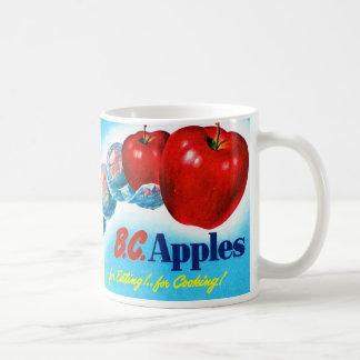 Del vintage del kitsch de Apple del arte manzanas Taza