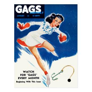 Del vintage del kitsch retro del hombre de la tarjetas postales