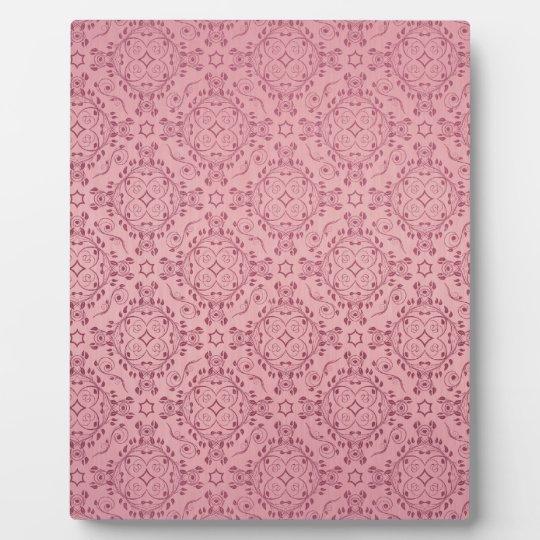 Del vintage del modelo de los diamantes rosa flora placa de plastico